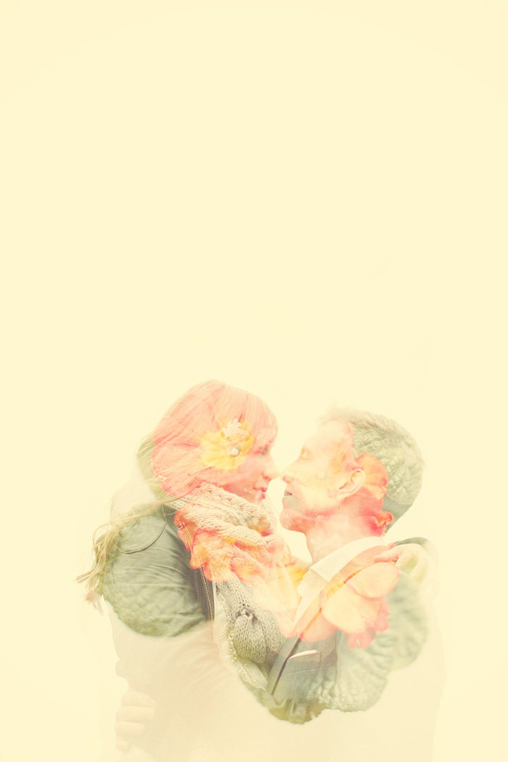 Double exposed lovers