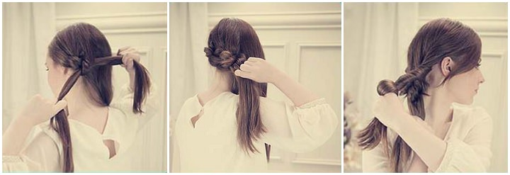 Knotted Up Do with Side Know tutorial 6